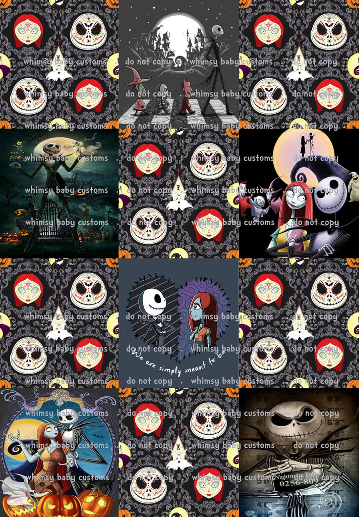 Nightmare Before Christmas Lazy Quilt Rapport, 1 meter on CL
