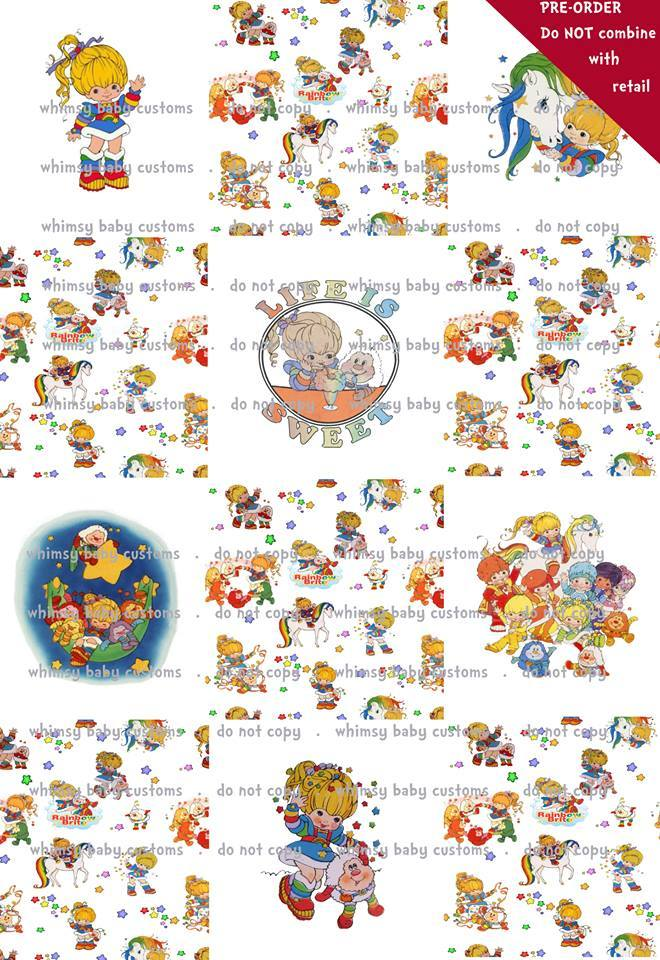 Lazy Quilt Rapport Rainbow Brite on CL