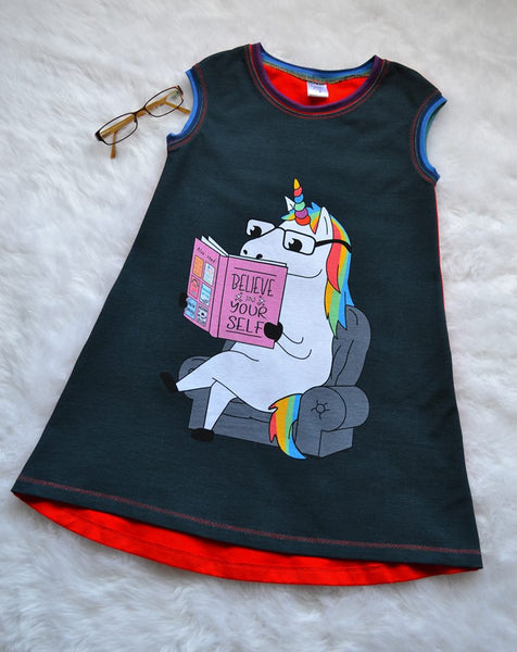 1150 Believe In Yourself Unicorn Adult/Romper Panel