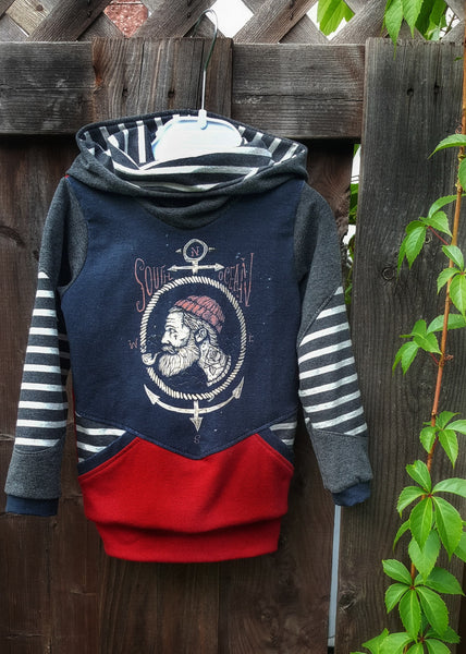 573 Soulful Ocean Hipster Sailor Child Panel