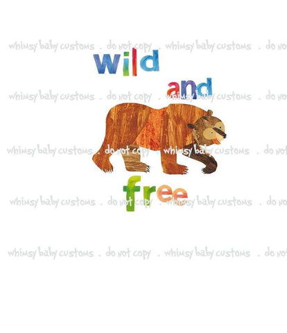 July/Aug 2020 Preorder - Child Panel Brown Bear Wild and Free ON CL