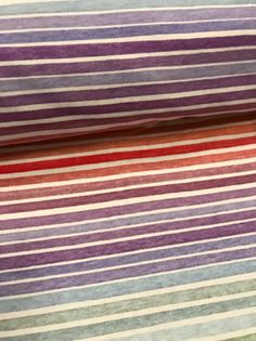 Fabric Pastel Rainbow (Puffin) PIN Stripes