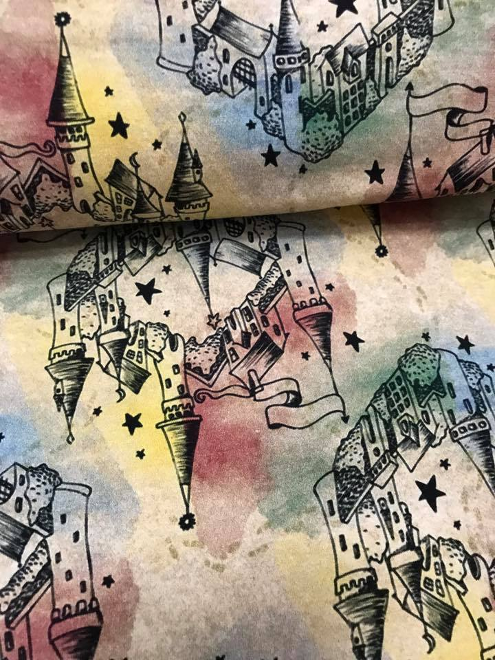 Fabric Harry Potter Map on Beige