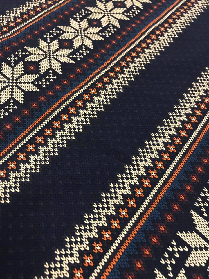 Fair Isle Fabric in French Terry