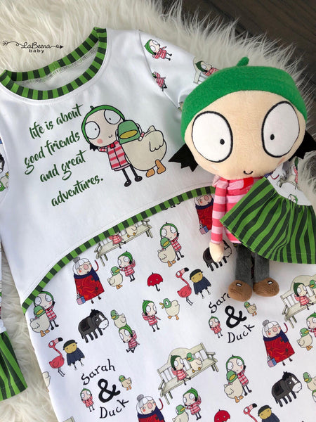 Rapport Sarah and Duck Favorite Person Green Stripes