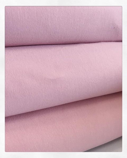 Solid Dusty Rose Pink Cotton Lycra - 2 m Bundle
