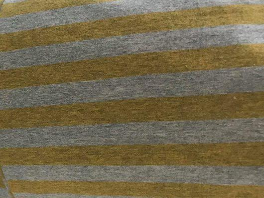 Fabric Heather Stripes Yellow(Gold)