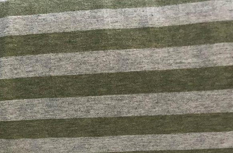 Fabric Heather Stripes Green