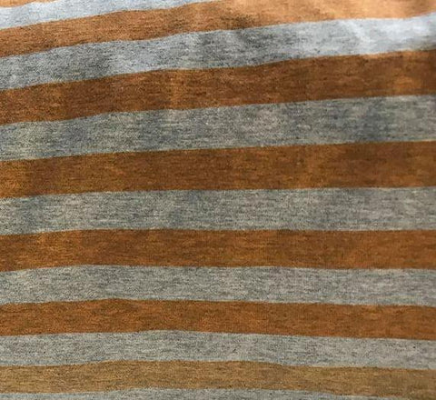 Fabric Heather Stripes Orange(Copper)