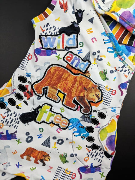 Brown Bear Version II (Doodle) Fabric