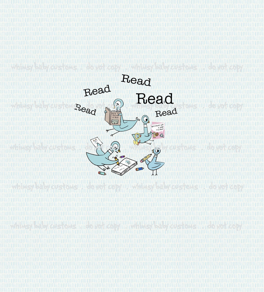 Child Panel Pigeon Read Read Read ON CL