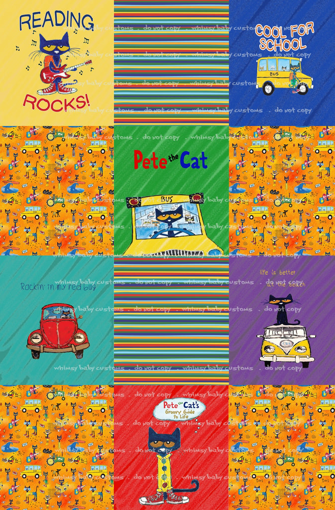 Lazy Quilt Pete The Cat  1m ON VARIOUS BASES
