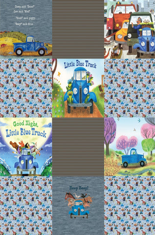 Lazy Quilt Little Blue Truck 1m ON VARIOUS BASES