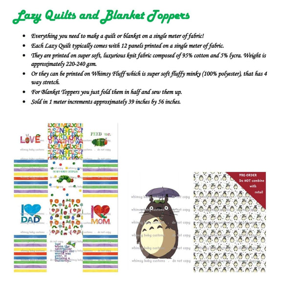 Fluff 2020 Preorder- Lazy Quilt Nightmare Before Christmas