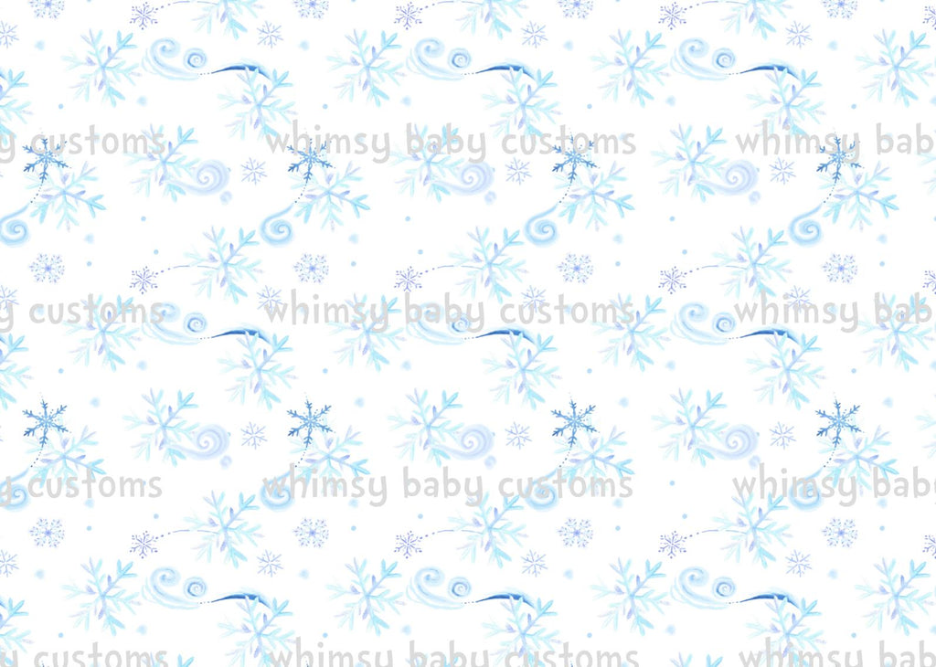 Nov/Dec 2019 Preorder - Fabric Frozen Whimsical Snowflakes ON VARIOUS BASES