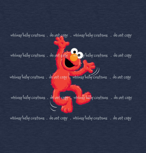 Elmo on Navy Child Panel