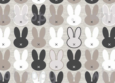 Fabric Earthtoned Bunnies