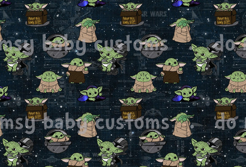 January 2020 Preorder - Fabric Green Alien Child main Fabric
