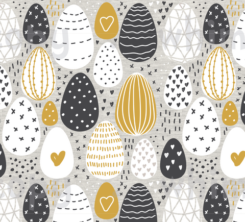 Fabric Earthtoned Easter Eggs