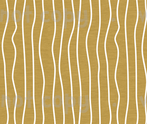 Fabric Wonky Stripes on Mustard