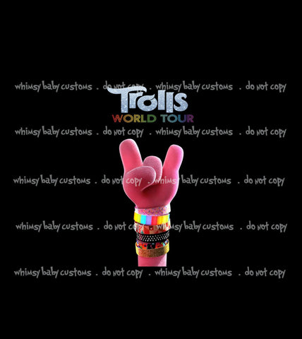 May/June 2020 Preorder - Child Panel Trolls World Tour Pink Hand