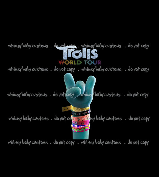 May/June 2020 Preorder - Child Panel Trolls World Tour Turquoise Hand