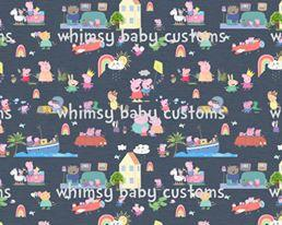 May/June 2020 Preorder - Fabric Peppa Pig Remixed Blue