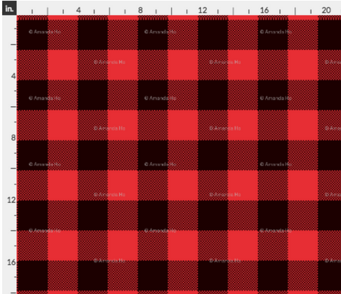Red and Black Buffalo Plaid Fabric