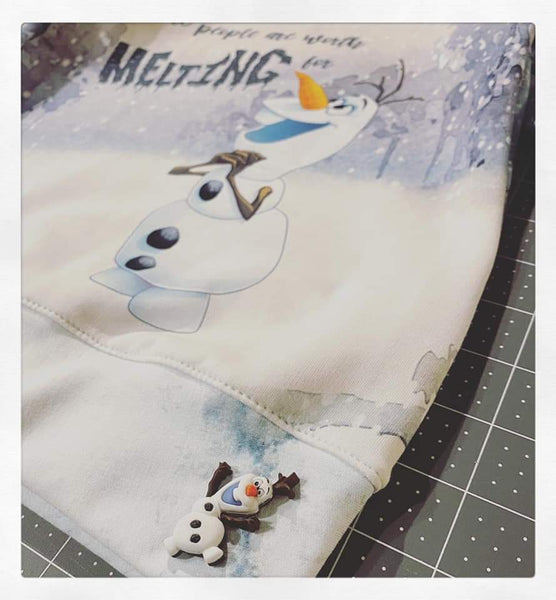 C257 Cold Sisters 2: Snowman Some People Are Worth Melting For Child Panel (Cotton Lycra) - C12/C13