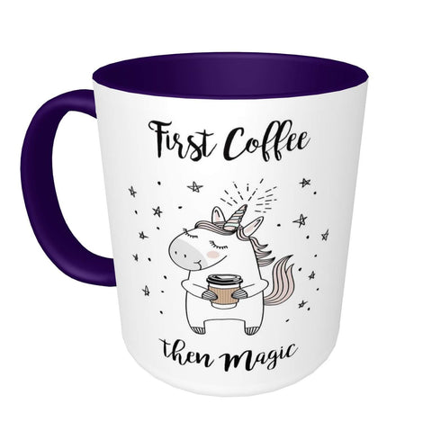 First Coffee Unicorn Mug