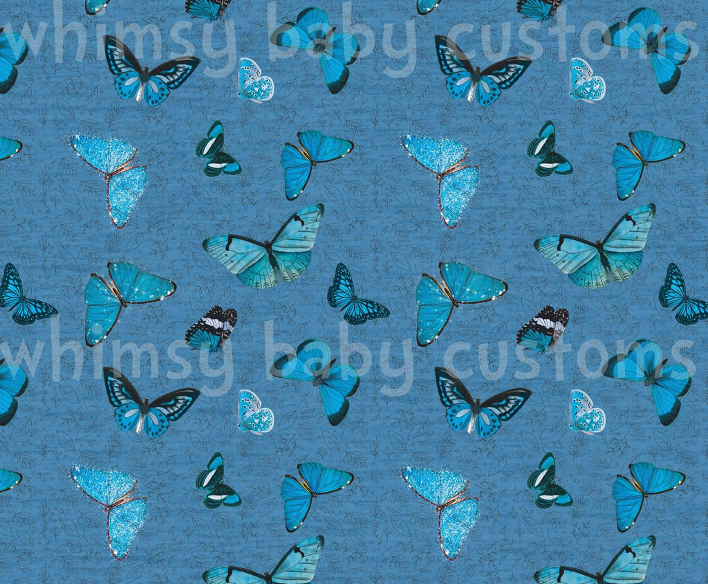 March 2021 Preorder- Fabric Tone on Tone Butterflies on Faux Heather