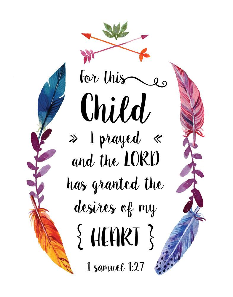 544 Rainbow Baby - For This Child I Have Prayed Child Panel