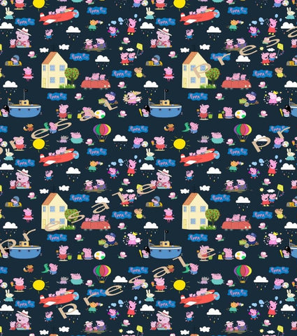 Peppa Pig  Main Fabric (Navy)