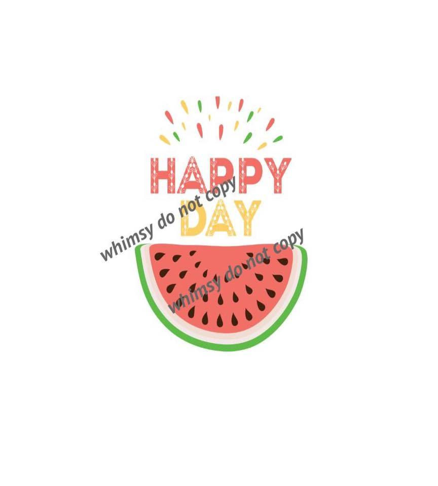 Happy Day Watermelon Panel