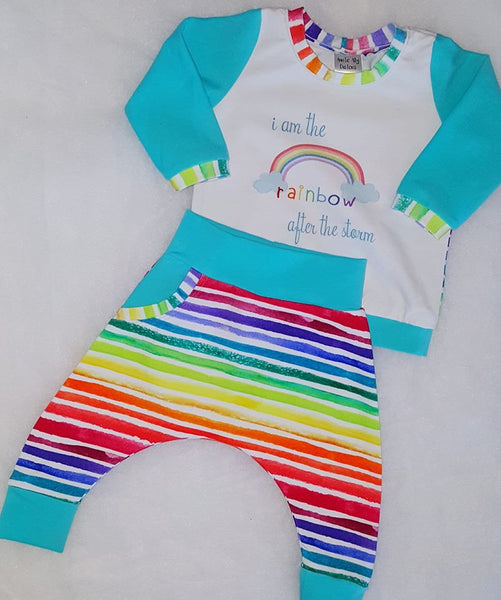Watercolour Rainbow Stripe