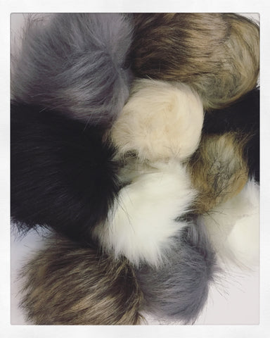 Faux Fur Pom Pom (With Snap)