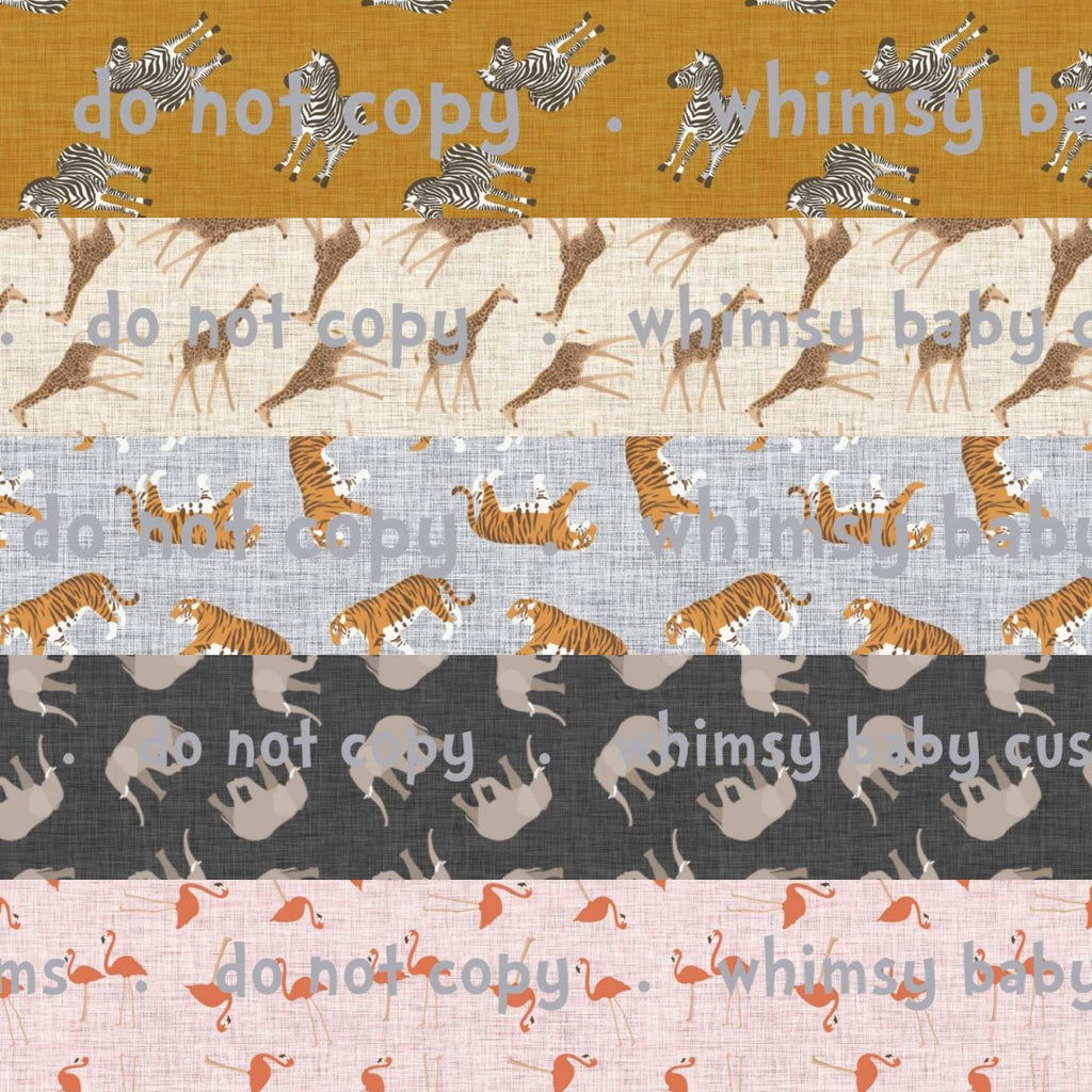 May/June 2020 Preorder - Fabric Wild Animals on Faux Linen POT OF GOLD