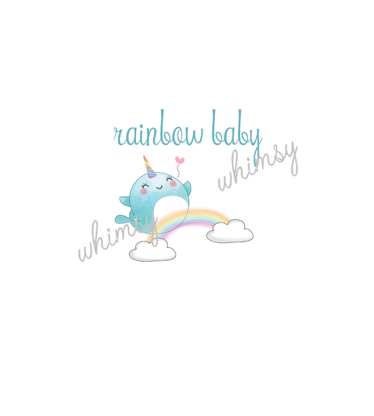 547 Rainbow Baby Narwahl Child Panel