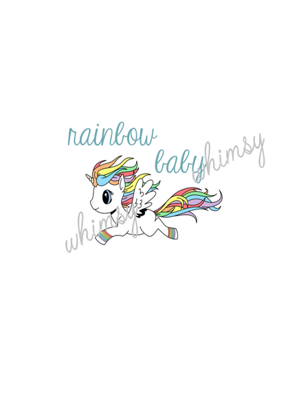 554 Rainbow Baby Unicorn Child Panel