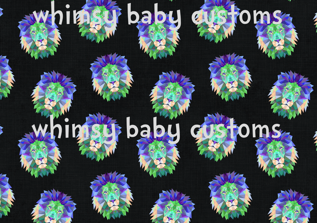 May/June 2020 Preorder - Fabric Geo Lion Bright