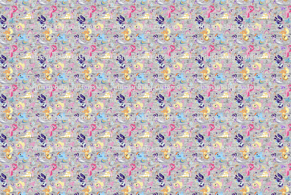 Fabric My Little Pony Remixed on COTTON LYCRA