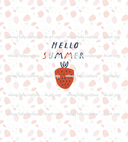 May/June 2020 Preorder - Child Panel Hello Summer Strawberry