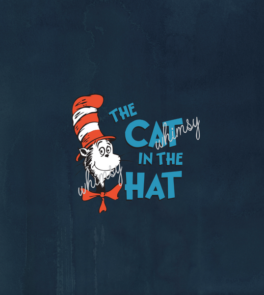 C210 Dr. Seuss Cat in the Hat Child Panel (Navy)