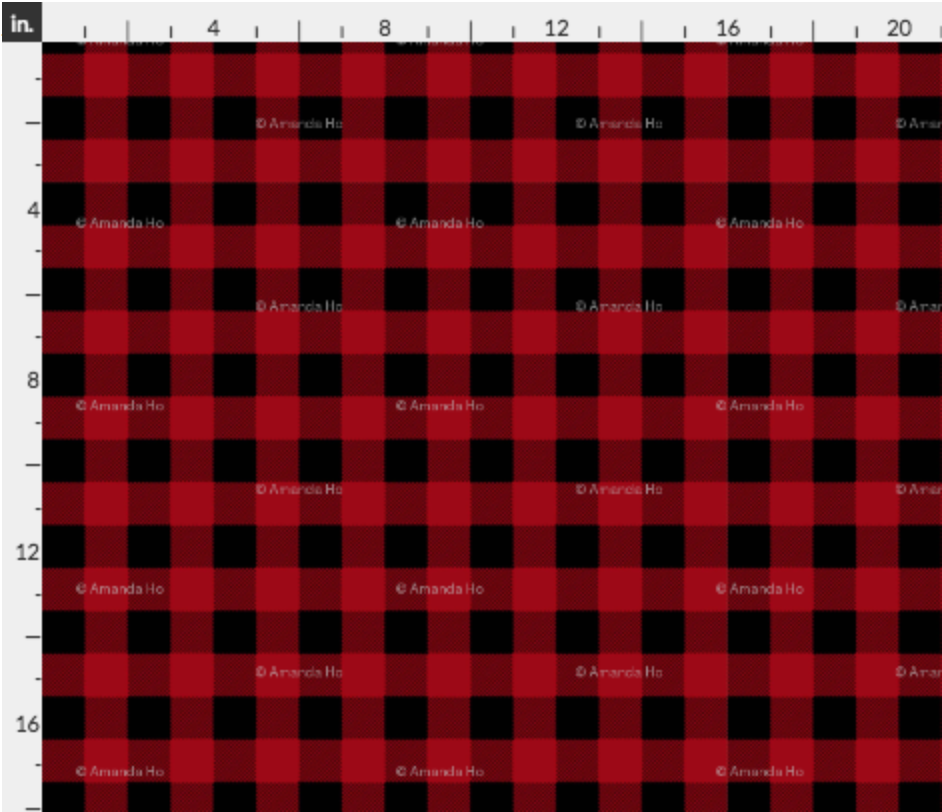 Fabric Red Buffalo Plaid French Terry