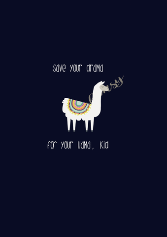 A1074 Save Your Drama For Your Llama Adult/Romper Panel