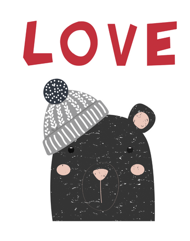 Valentine Love Bear Applique Kit Only