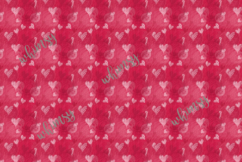 Valentine's Hearts and Swirls Fabric