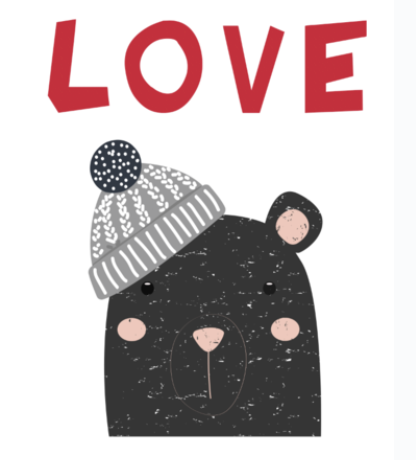 Valentine Love Bear Applique Tutorial Only