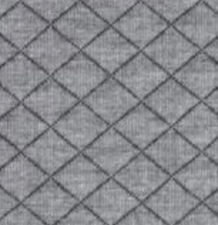 Quilted Knit Fabric - Heather Light Grey