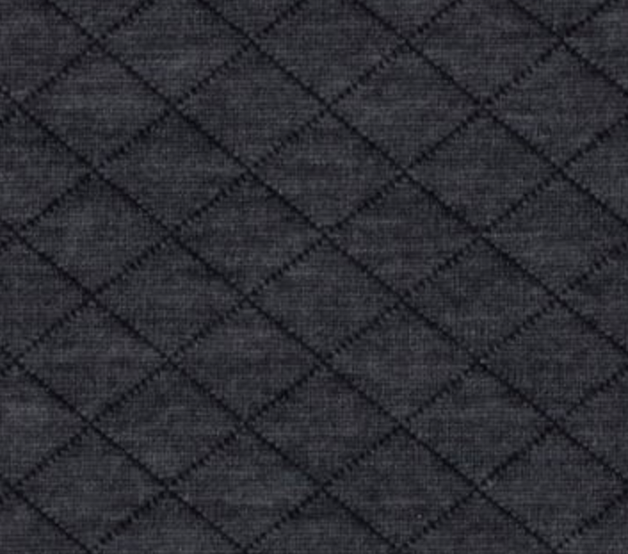 Quilted Knit Fabric - Heather Charcoal